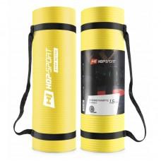 Коврик для фитнеса и йоги Hop-Sport HS-N015GM 1,5 см желтый