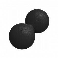 Массажный мяч двойной Springos Lacrosse Double Ball 6 x 12 см FA0022 черный