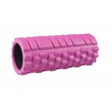 Массажный ролик (валик, роллер) 33 см SportVida SV-HK0062 Pink