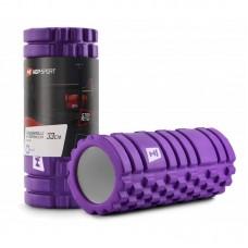 Массажный ролик (валик, роллер) EVA 33 см фиолетовый