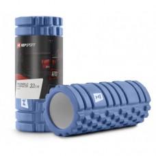 Массажный ролик (валик, роллер) Hop-Sport EVA 33 см HS-A033YG голубой