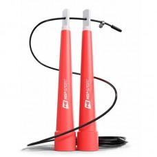 Скакалка Crossfit с пластиковыми ручками Hop-Sport HS-P010JR красная