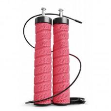 Скакалка с подшипниками и мягкой рукояткой Hop-Sport HS-P030JR красная