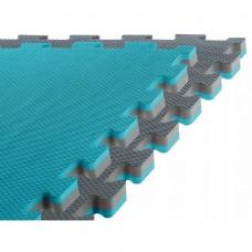 Напольное покрытие для спортзала мат-татами (ласточкин хвост) SportVida Mat Puzzle Multicolor 100 x 100 x 2 cм SV-HK0178 Grey/Sky Blue