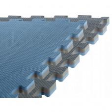 Напольное покрытие для спортзала мат-татами (ласточкин хвост) SportVida Mat Puzzle Multicolor 100 x 100 x 2 cм SV-HK0180 Grey/Blue
