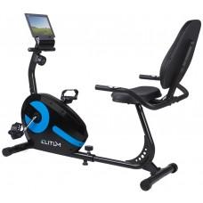 Горизонтальный велотренажер Elitum LX300 black