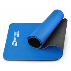 Коврик для фитнеса и йоги TPE 0,6 см HS-T006GM синий
