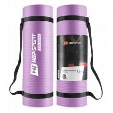 Коврик для фитнеса и йоги Hop-Sport HS-N015GM 1,5 см фиолетовый