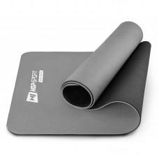 Коврик для фитнеса и йоги TPE 0,6 см Hop-Sport HS-T006GM серый