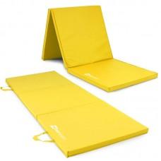 Мат гимнастический складной Hop-Sport HS-064FM 4 см желтый