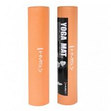 Коврик для фитнеса и йоги HMS YM01 PVC 6 мм Orange
