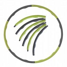 Хулахуп обруч для похудения массажный SportVida 100 см 1.2 кг SV-HK0153 Grey/Green