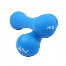 Гантели для фитнеса виниловые SportVida 2 x 2 кг SV-HK0031