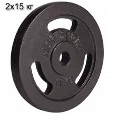 Сет из металлических дисков Hop-Sport Strong 2x15 кг