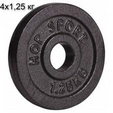 Сет из металлических дисков Hop-Sport Strong 4x1,25 кг