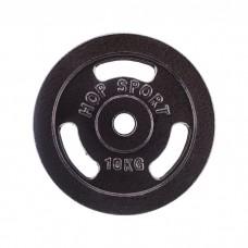 Блин для штанги металлический Hop-Sport 10кг