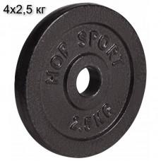 Сет из металлических дисков Elitum Strong 4 x 2,5 кг d - 30 мм