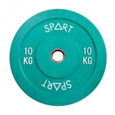 Бамперный диск для штанги 10 кг  d - 50 мм SPART PL42-10