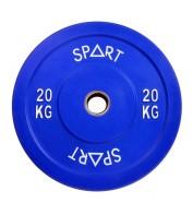 Бамперный диск для штанги 20 кг d - 50 мм SPART PL42-20