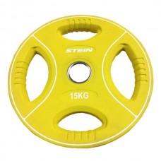 Профессиональные диски для штанг Stein TPU Color 3-Hole Plate DB6092-15