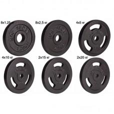 Сет из металлических дисков Elitum Strong 160 кг d - 30 мм