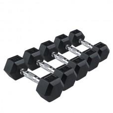 Гантель профессиональная шестигранная Rising 25 кг