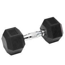 Гантель гексогональная обрезиненная Stein 37.5 кг
