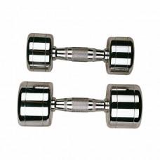 Набор гантелей профессиональных хромированных 1-10 кг STEIN Chrome Dumbbell 10 пар