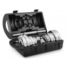 Гантели хромированные Hop-Sport 2 х 10 кг в кейсе