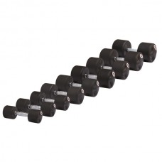 Набор гантелей профессиональных обрезиненных 1-10 кг STEIN Rubber Dumbbell 10 пар