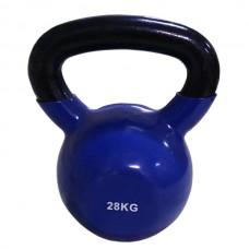 Гиря спортивная металлическая виниловая SPART 28 кг синяя