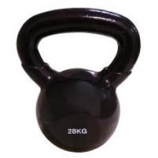 Гиря виниловая SPART 28 кг/ черная