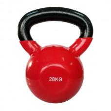 Гиря спортивная металлическая виниловая SPART 28 кг красная
