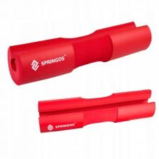 Накладка (бампер) на гриф штанги Springos Barbell Pad FA0206 Red