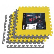 Мат-пазл Hop-Sport EVA 1cm HS-A010PM - 4 частей желто-серый