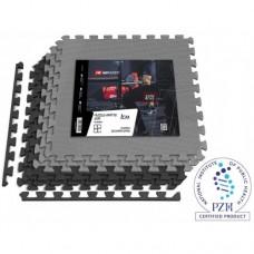 Мат-пазл Hop-Sport EVA 1cm HS-A010PM - 6 частей черный/серый
