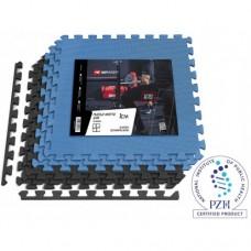 Мат-пазл Hop-Sport EVA 1cm HS-A010PM - 6 частей черный/синий