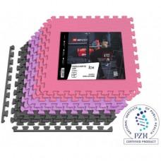 Мат-пазл Hop-Sport EVA 1cm HS-A010PM - 9 частей серый/фиолетовый/розовый