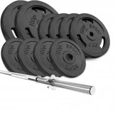 Набор Hop-Sport Strong 59 кг штанга с блинами с прямым грифом