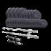 Набор Elitum TITAN штанги и гантели с блинами 105 кг c W- или Z-образным грифом и грифом для штанги