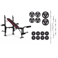 Набор Strong 83 кг со скамьей HS-1055