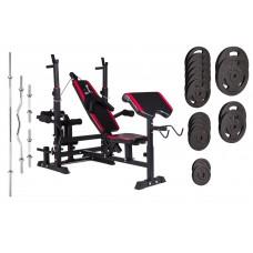 Набор Strong 129 кг со скамьей HS-1075 с тягой и партой