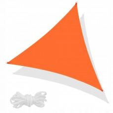 Тент-парус теневой для дома, сада и туризма Springos 5 x 5 x 5 м SN0015 Flame Orange