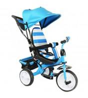 Детский велосипед трехколесный с ручкой KidzMotion Tobi Junior BLUE