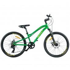 """Детский велосипед Spirit Flash 4.2 24"""", рама Uni, зелёный/матовый, 2021"""