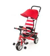 Детский велосипед трехколесный с ручкой KidzMotion Tobi Junior RED