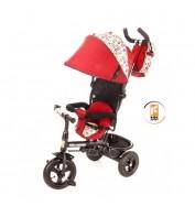 Детский велосипед трехколесный с ручкой KidzMotion Tobi Venture RED