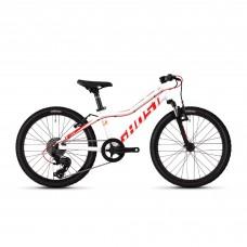"""Детский велосипед Ghost Lanao 2.0 AL W 20"""" , бело-красно-оранжевый, 2019"""