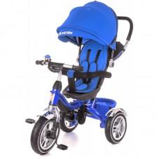 Детский трехколесный велосипед с ручкой KidzMotion Tobi Pro BLUE