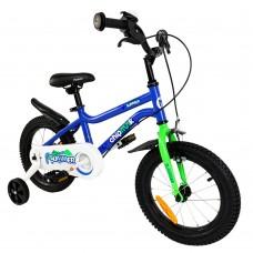 """Детский велосипед двухколесный с доп. колесами RoyalBaby Chipmunk MK 12"""" 85-105 см, OFFICIAL UA, голубой"""